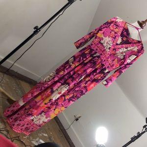 Vintage 60's Groovy Boho Maxi Dress